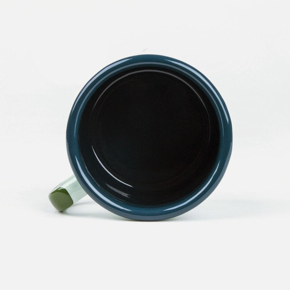 KEYWAY | Emalco - Olympic Bellied Enamel Mug, Handcrafted by Artisans in Poland, Inside View