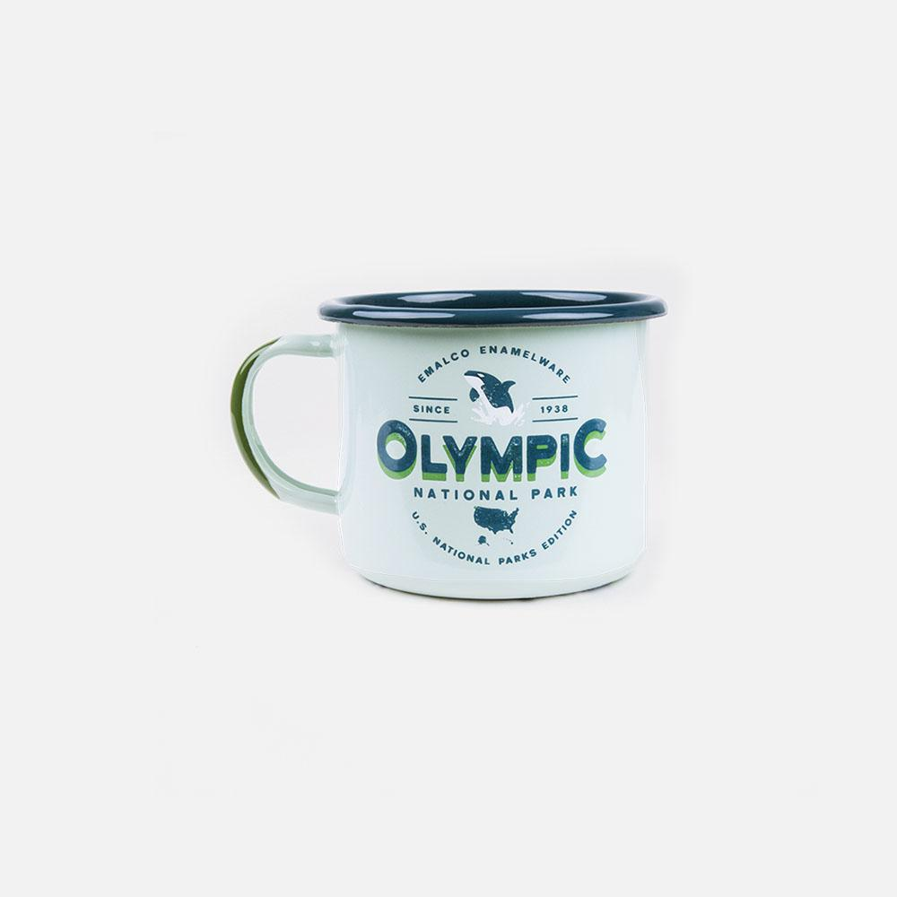 KEYWAY | Emalco - Olympic Large Enamel Mug, Handcrafted by Artisans in Poland, Front View