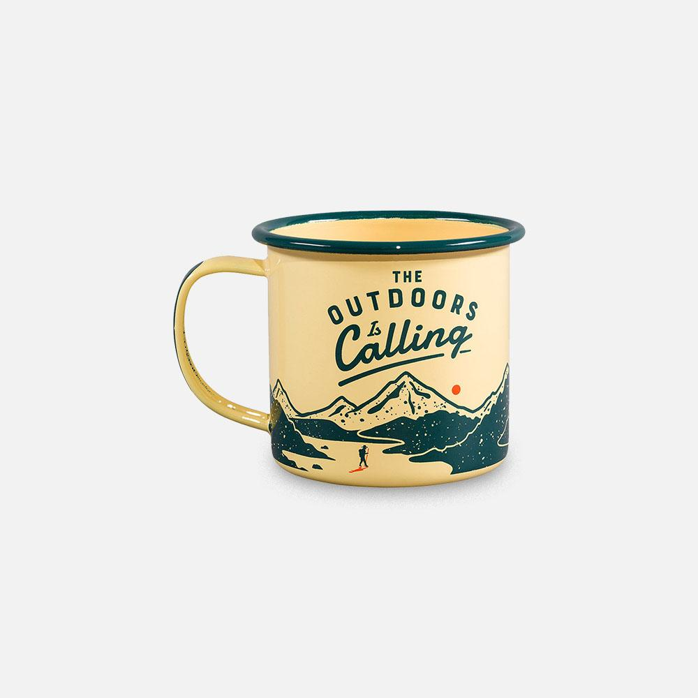 Wild+Wolf - Outdoors is Calling mug back view