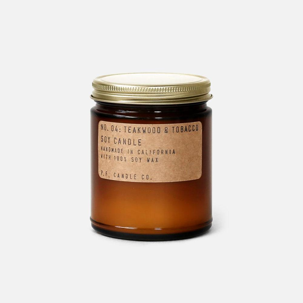 P.F. Candle - No.04: Teakwood Tobacco Soy Wax Jar Candle