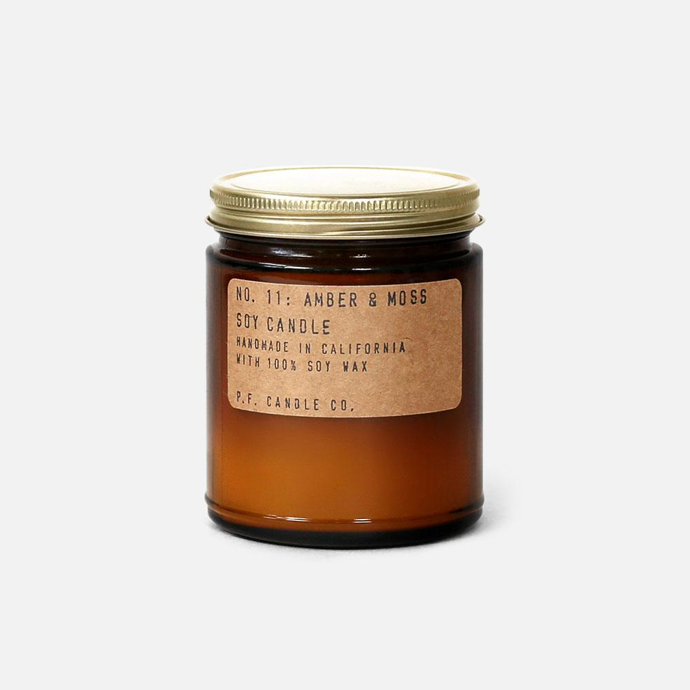 P.F. Candle - No.11: Amber Moss Soy Wax Jar Candle