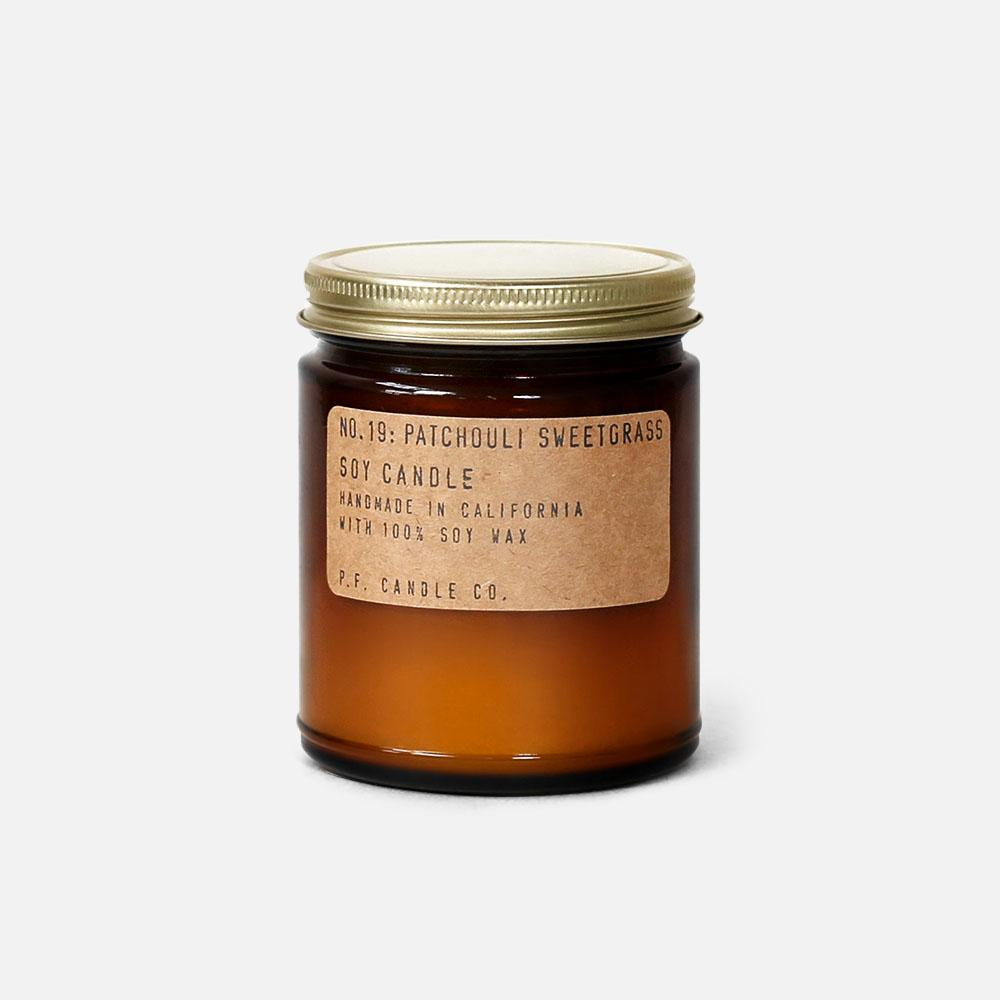 P.F. Candle - No.19: Patchouli Sweetgrass Soy Wax Jar Candle