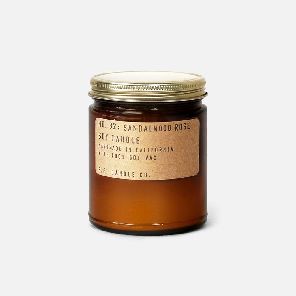 P.F. Candle - No.32: Sandlewood Rose Soy Wax Jar Candle