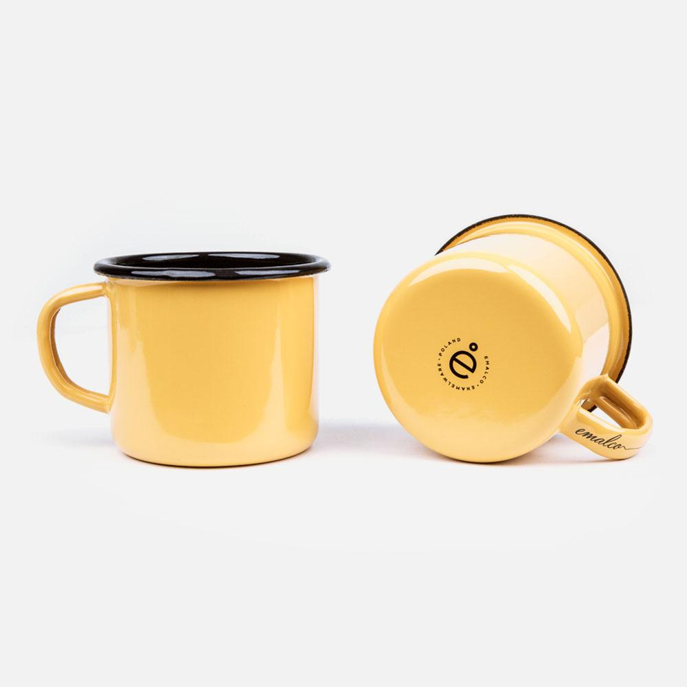 KEYWAY | Emalco - Plain Apricot Enamel Mug, Handcrafted by Artisans in Poland, Bottom View
