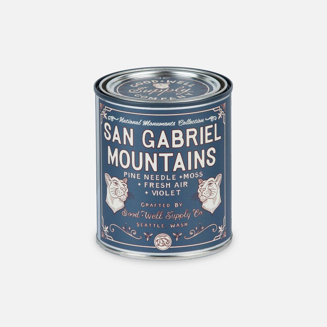 Keyway brings The San Gabriel Mountains National Monument Candle from Good & Well Supply Co.