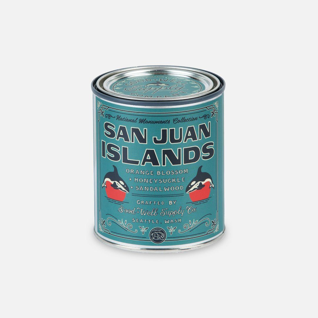 Keyway brings The San Juan Islands National Monument Candle from Good & Well Supply Co.