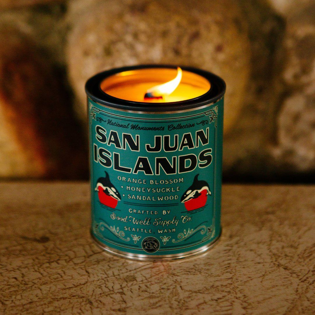 The San Juan Islands National Monument Candle from Good & Well Supply Co. in the Wild