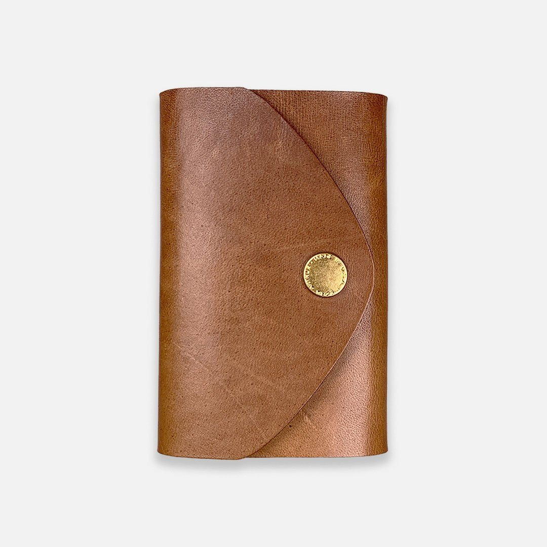Ezra Arthur - Snap Pouch Wallet in Whiskey Brown Horween Leather, Handcrafted in the USA