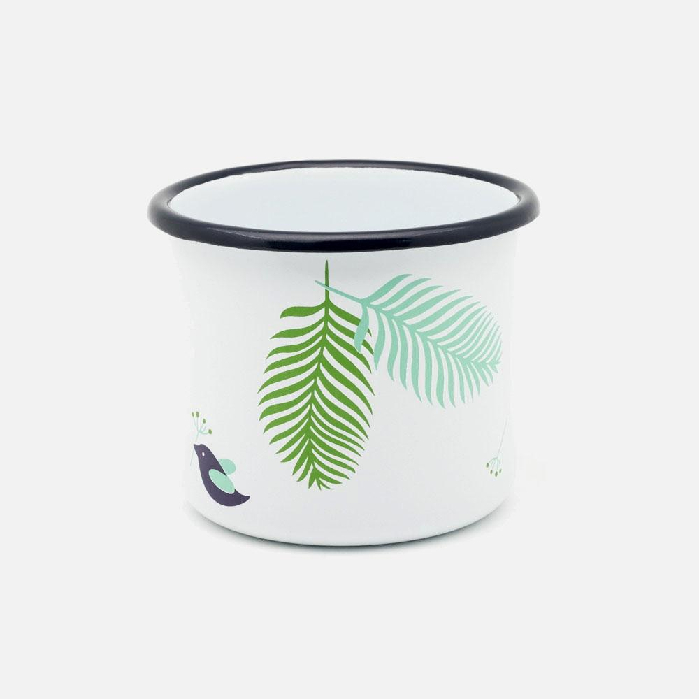 KEYWAY | Emalco - Classic Spring Enamel Mug, Handcrafted by Artisans in Poland, Side View