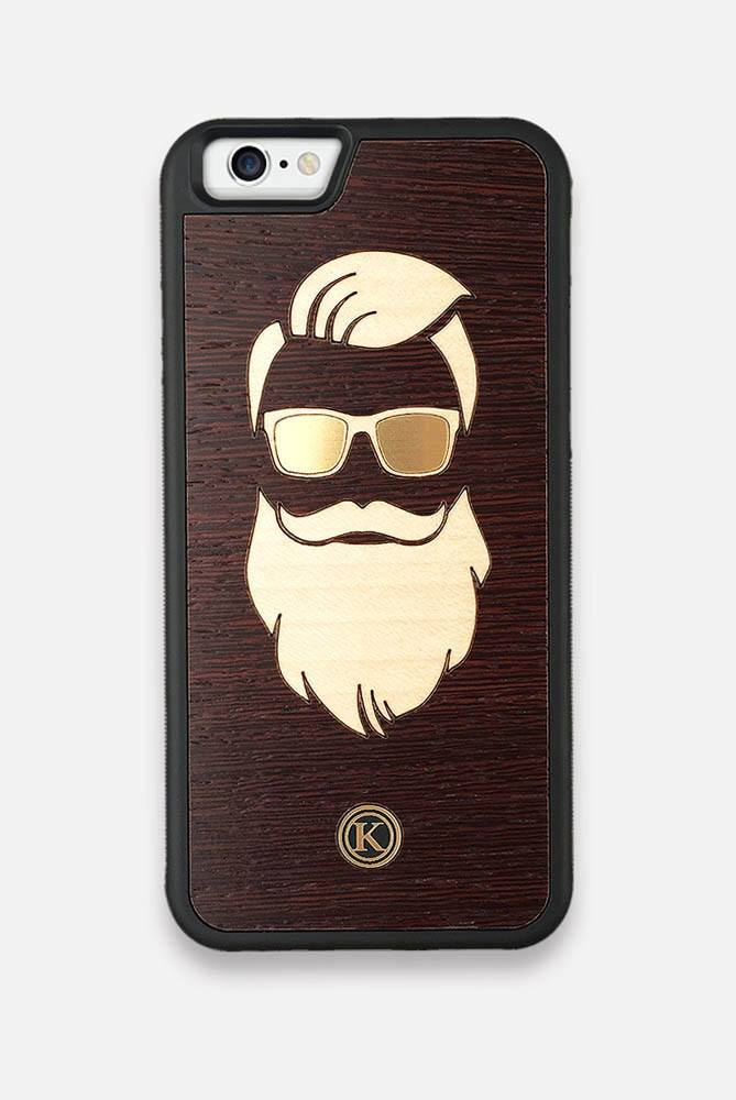 Front view of the Keyway | The Blonde Beard Wood & Metallic iPhone 6/6S Case
