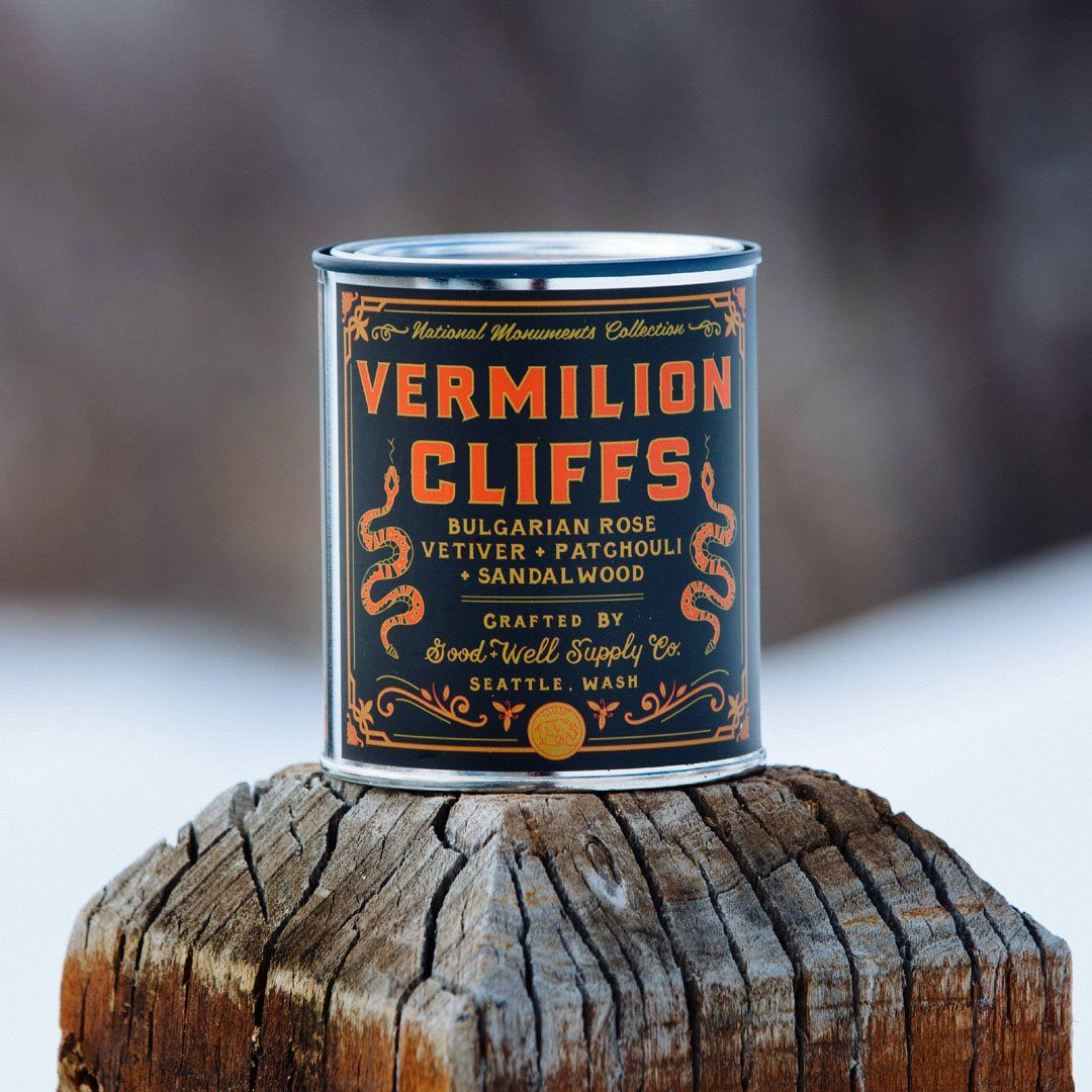 The Vermillion Cliffs National Monument Candle from Good & Well Supply Co. in the Wild.