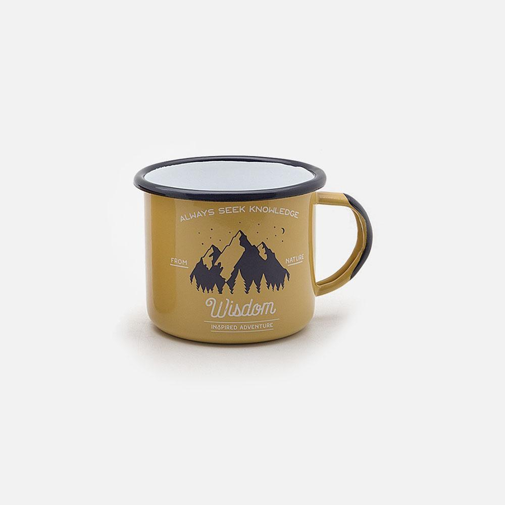 KEYWAY | Emalco - Apricot Wisdom Enamel Mug, Handcrafted by Artisans in Poland, Front View