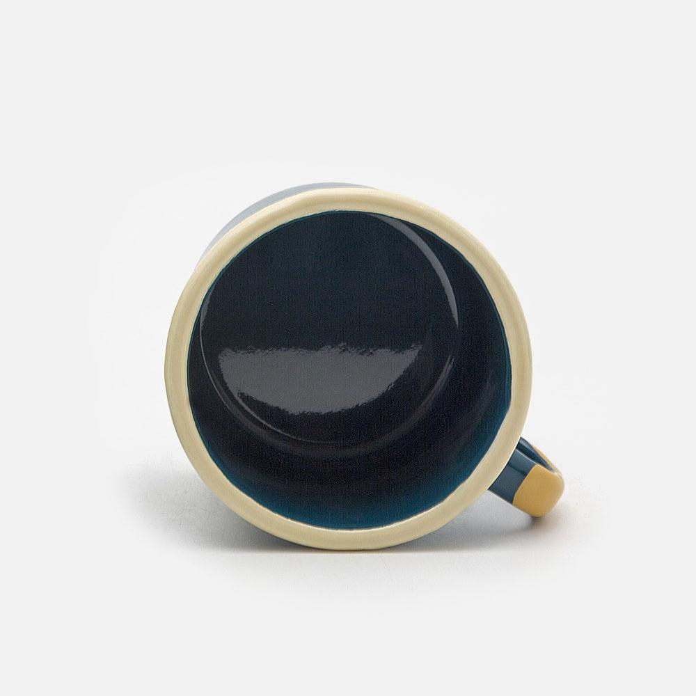 KEYWAY | Emalco - Teal Wisdom Enamel Mug, Handcrafted by Artisans in Poland, Inside View