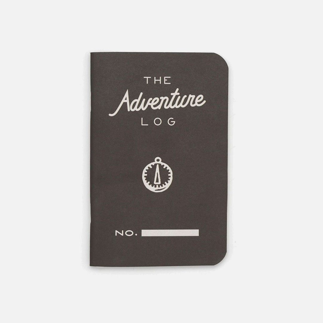 Word. - Adventure Log Black, USA Made Pocket Notebook, Front View