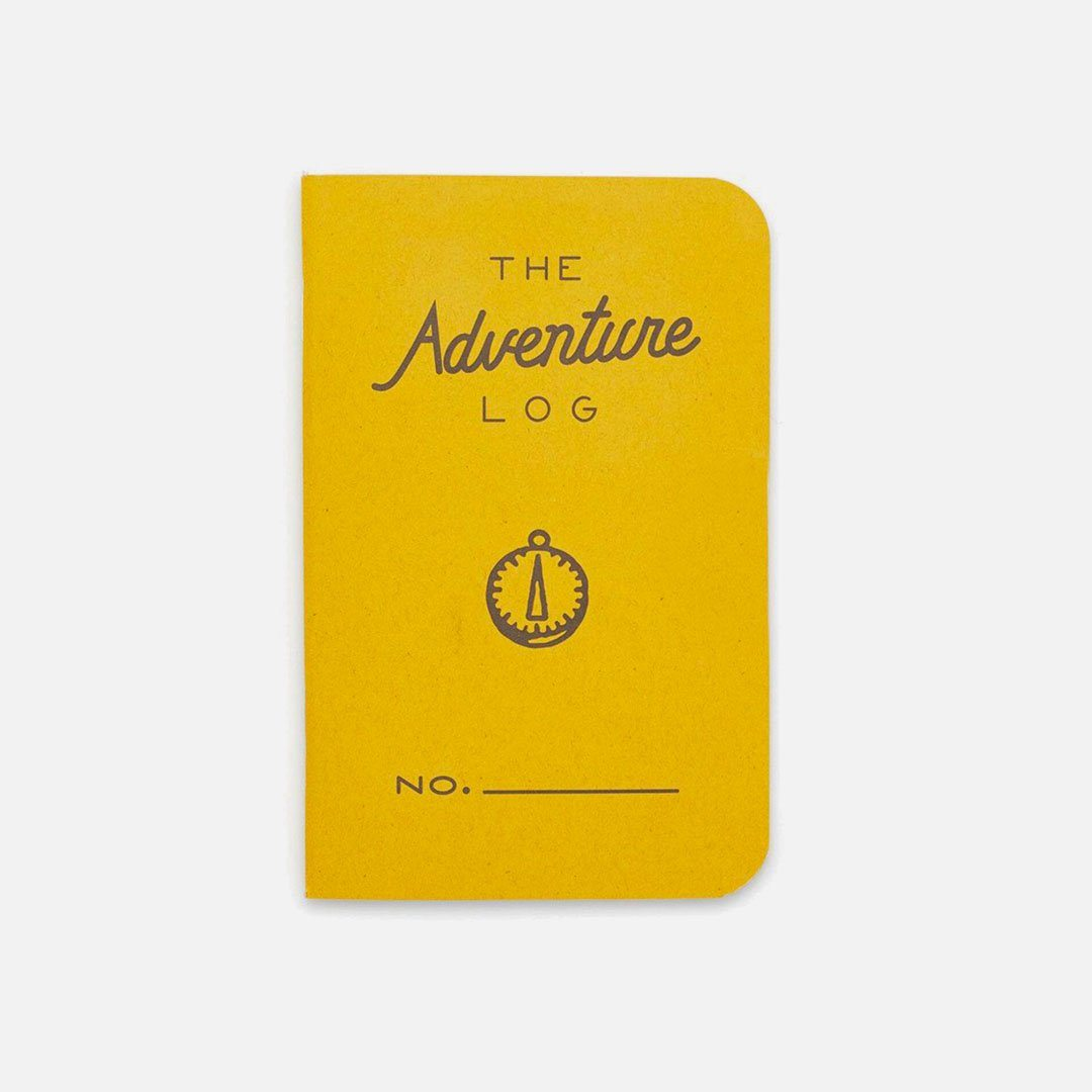 Word. - Adventure Log Yellow, USA Made Pocket Notebook, Front View