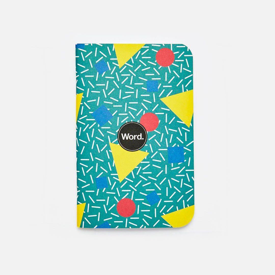 Word. - Bayside, USA Made Pocket Notebook, Front View