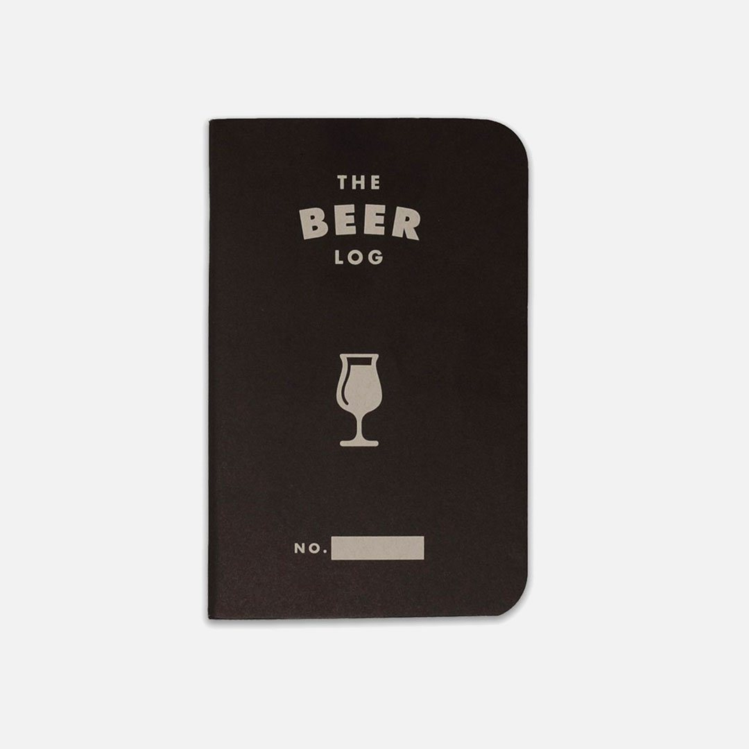 Word. - Beer Log, USA Made Pocket Notebook, Front View