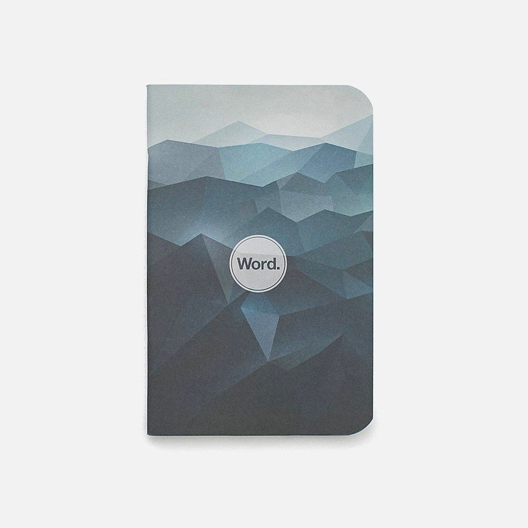 Word. - Blue Mountain, USA Made Pocket Notebook, Front View