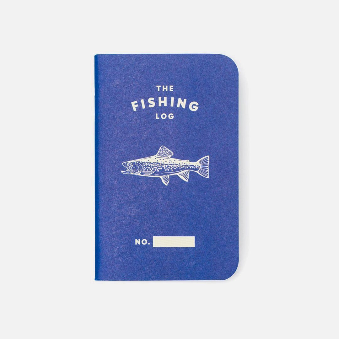 Word. - Fishing Log Blue, USA Made Pocket Notebook, Front View