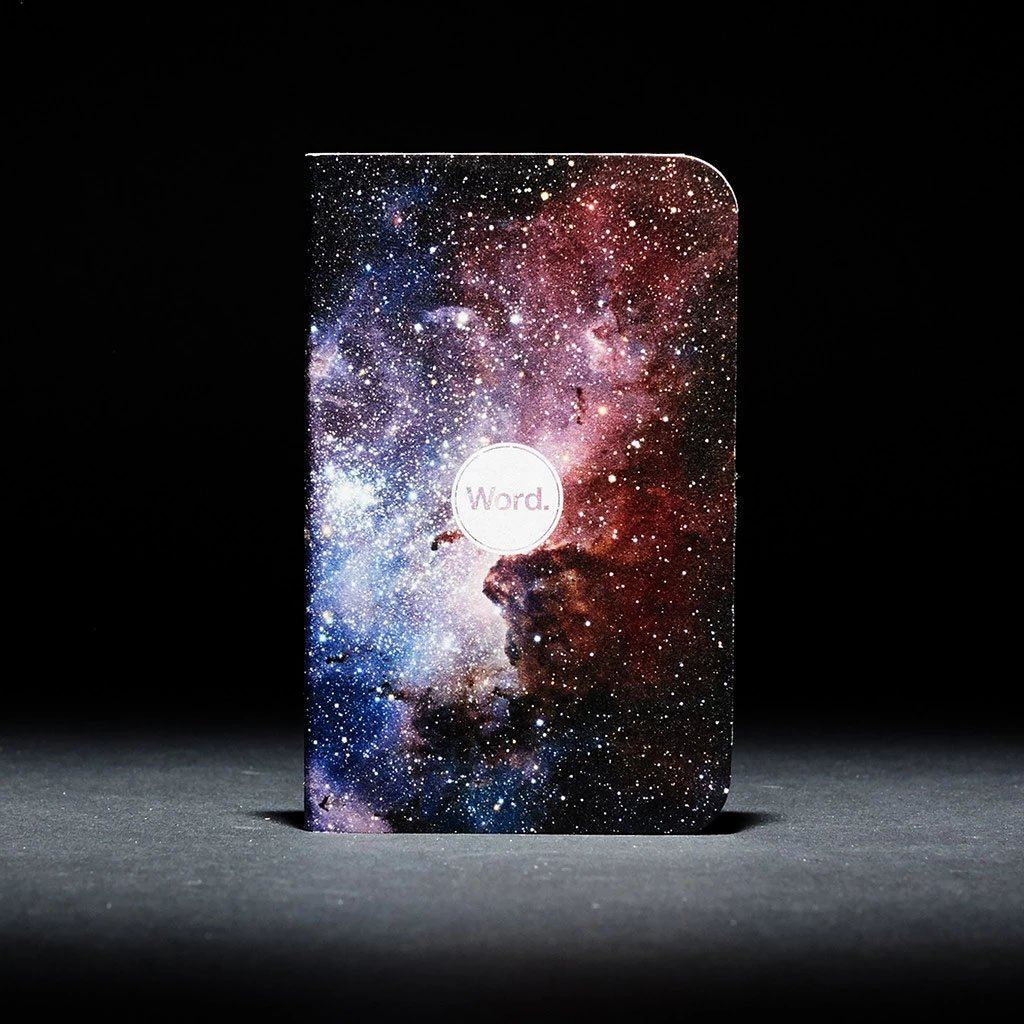 Word. - Intergalactic, USA Made Pocket Notebook, Action Shot