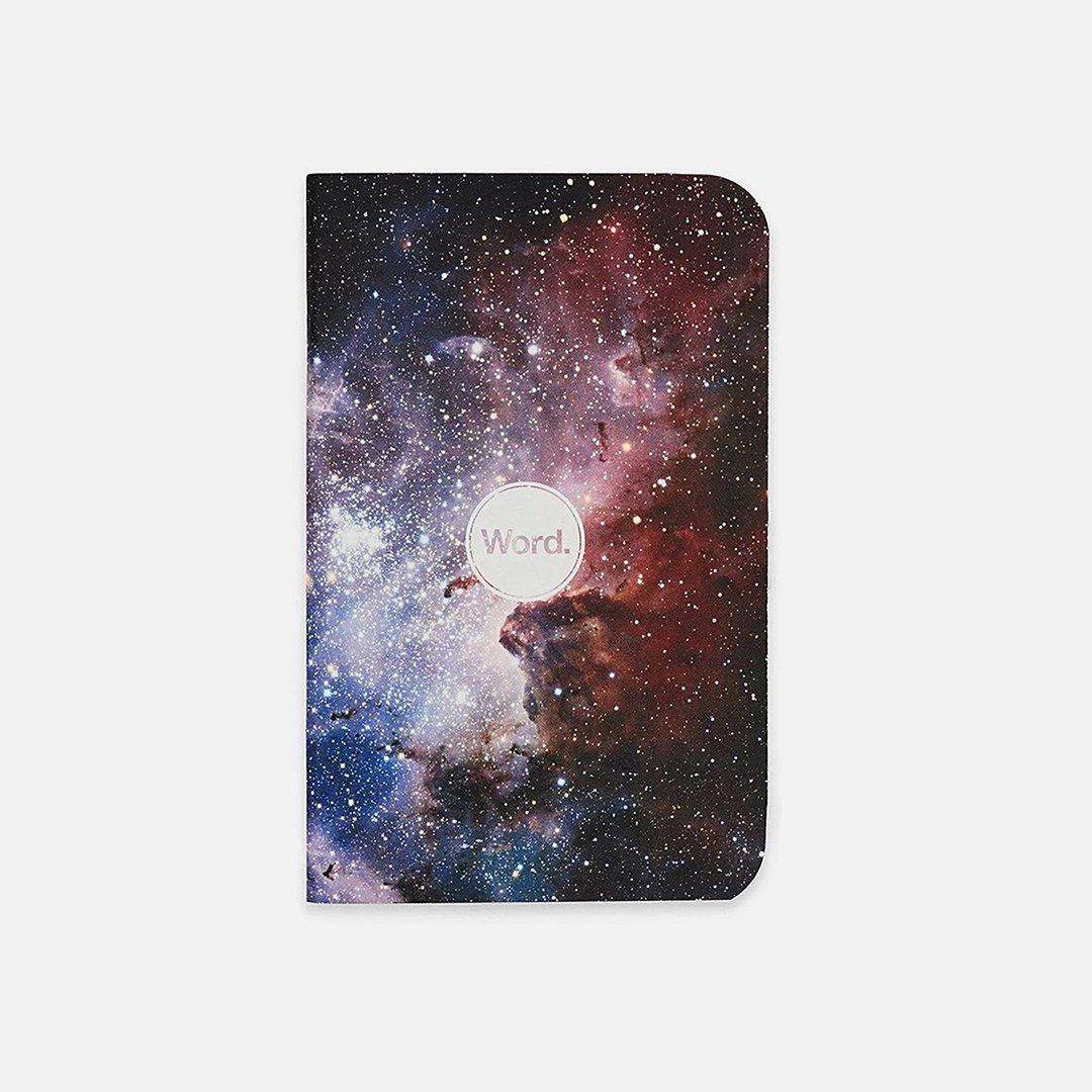 Word. - Intergalactic, USA Made Pocket Notebook, Front View