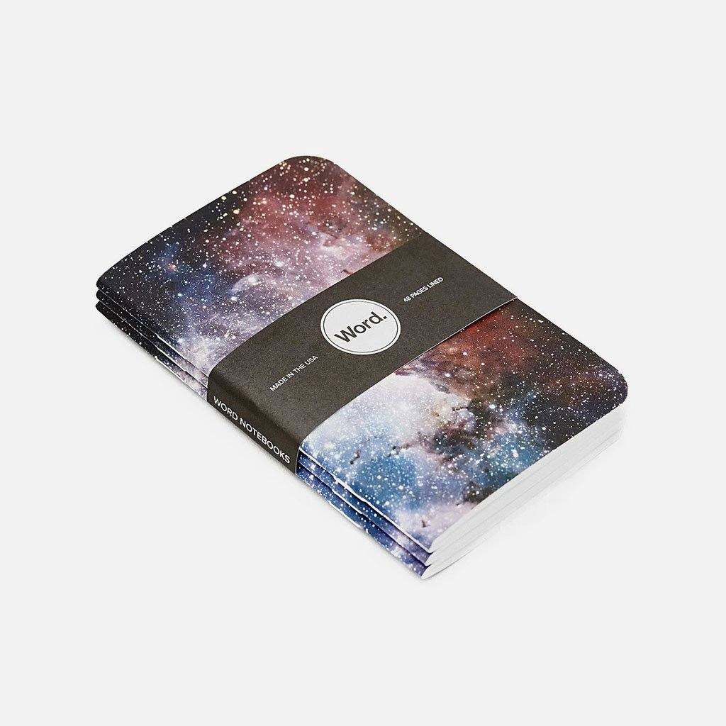 Word. - Intergalactic, USA Made Pocket Notebook, Stacked