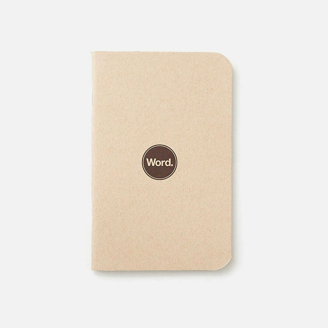 Word. - Natural, USA Made Pocket Notebook, Front View