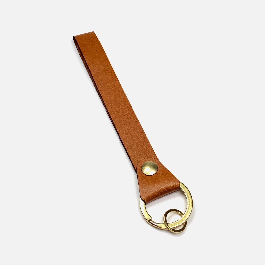 Wrist Strap Leather Key Chain by Keyway Designs - Whiskey