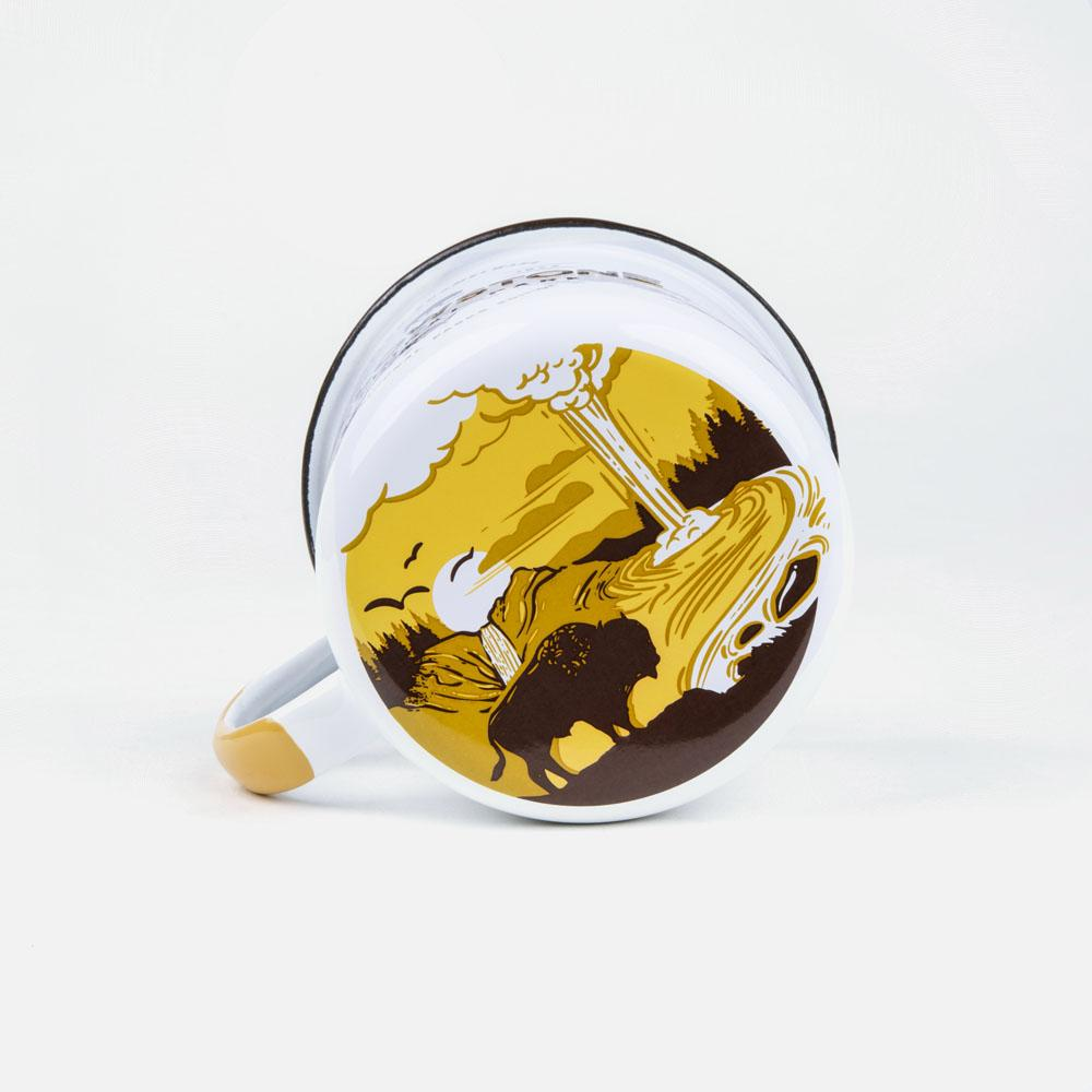 KEYWAY | Emalco - Yellowstone Bellied Enamel Mug, Handcrafted by Artisans in Poland, Bottom Print View