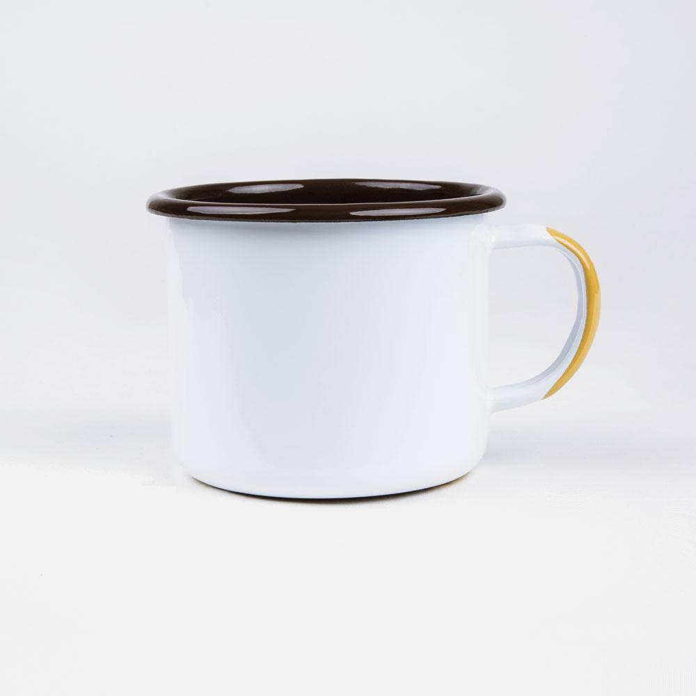 KEYWAY | Emalco - Yellowstone Bellied Enamel Mug, Handcrafted by Artisans in Poland, Back View