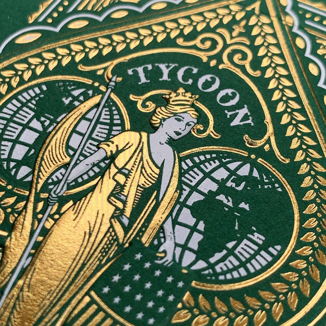 KEYWAY | Theory 11 - Green Tycoon Premium Playing Cards Macro Front