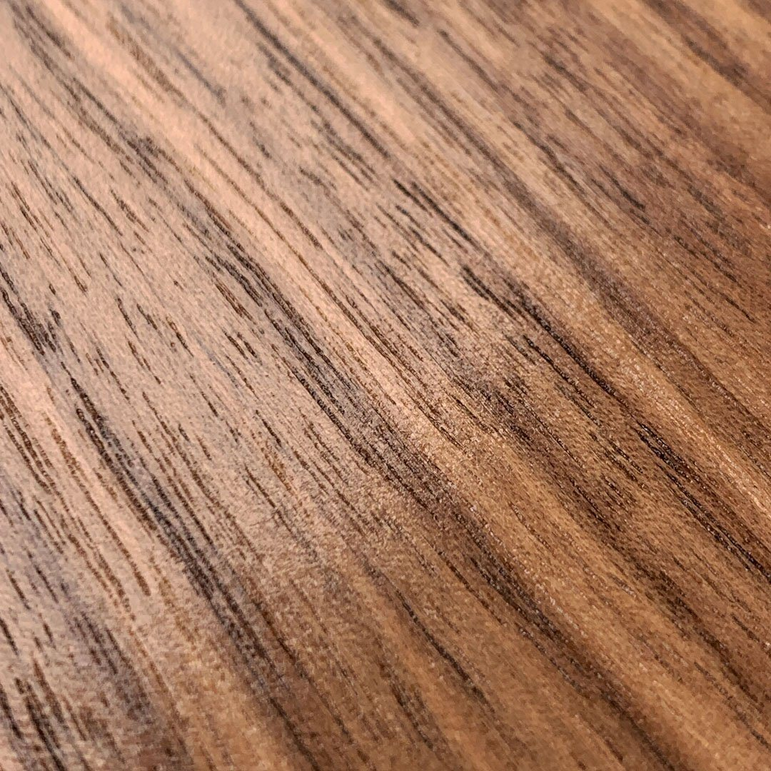 Zoomed in detailed shot of the Walnut Pure Minimalist Wood iPhone 6 Case by Keyway Designs