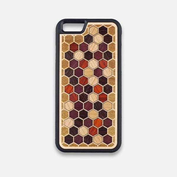 Front view of the Cellular Maple Wood iPhone 6 Case by Keyway Designs