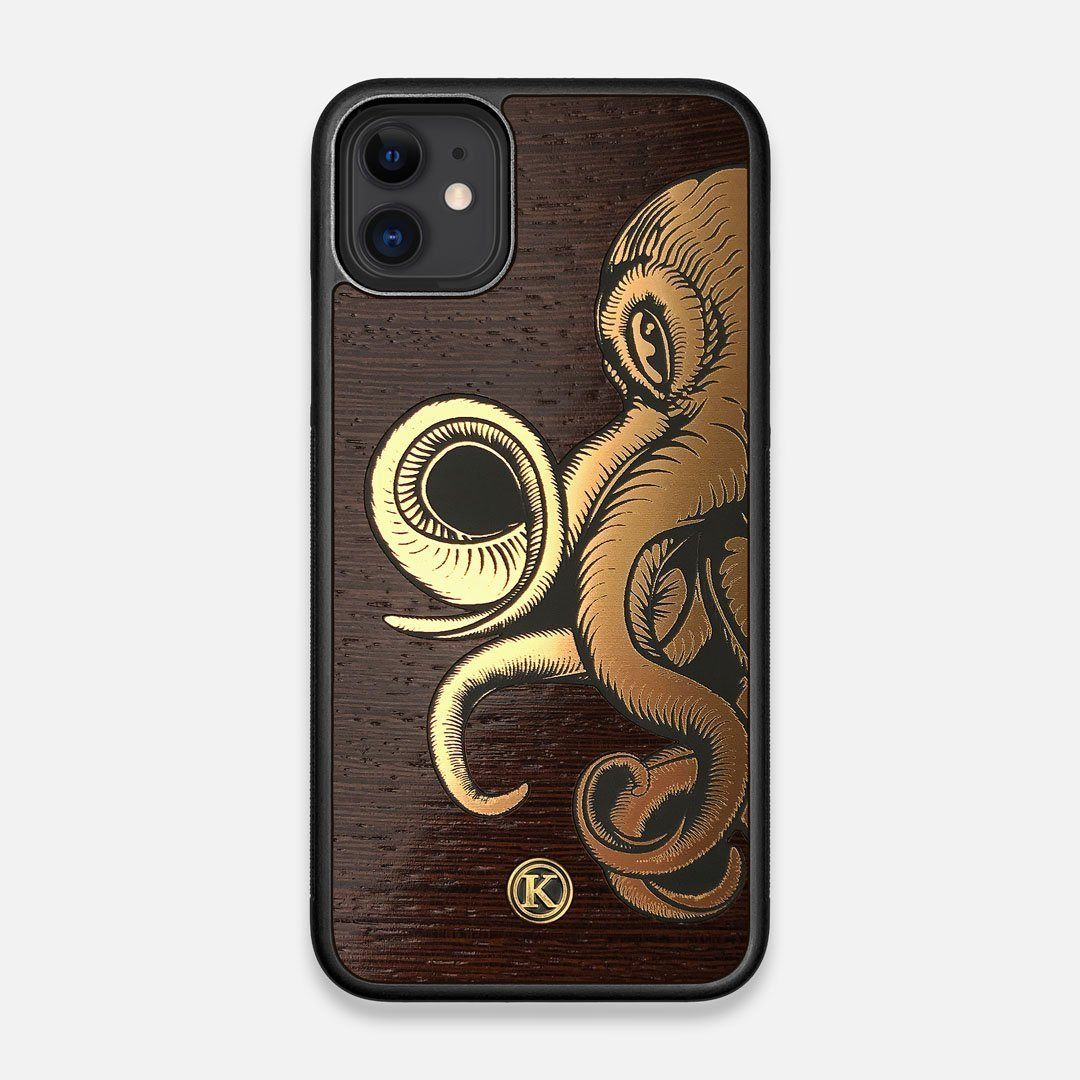 TPU/PC Sides of the classic Camera, silver metallic and wood iPhone 11 Case by Keyway Designs
