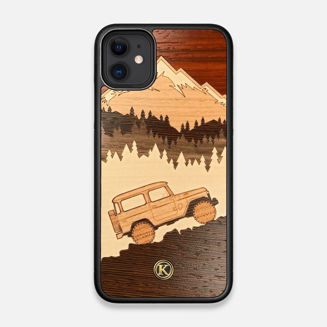 TPU/PC Sides of the Off-Road Wood iPhone 11 Case by Keyway Designs