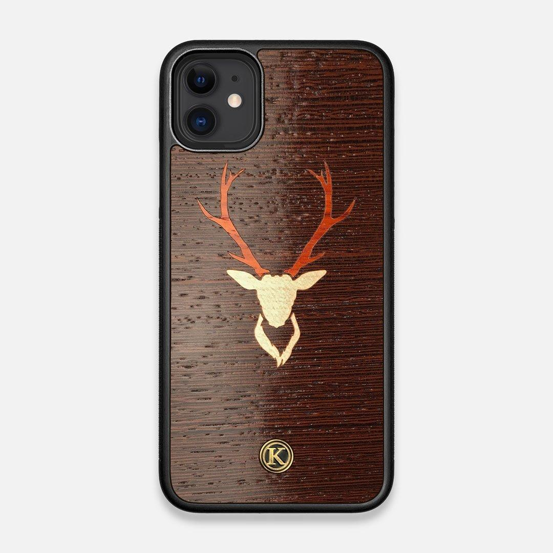 Front view of the Stag Wenge Wood iPhone 11 Case by Keyway Designs