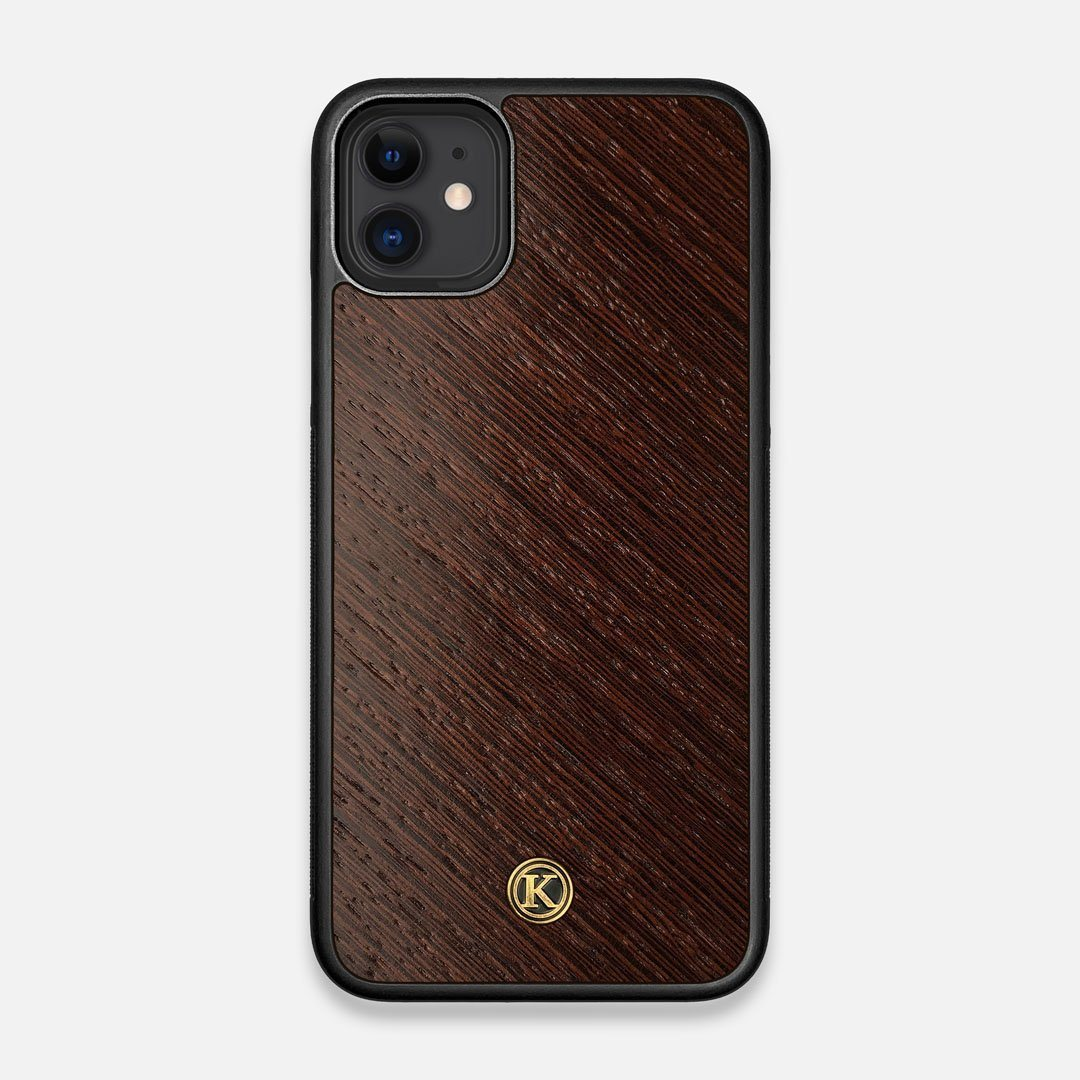 Front view of the Wenge Pure Minimalist Wood iPhone 11 Case by Keyway Designs