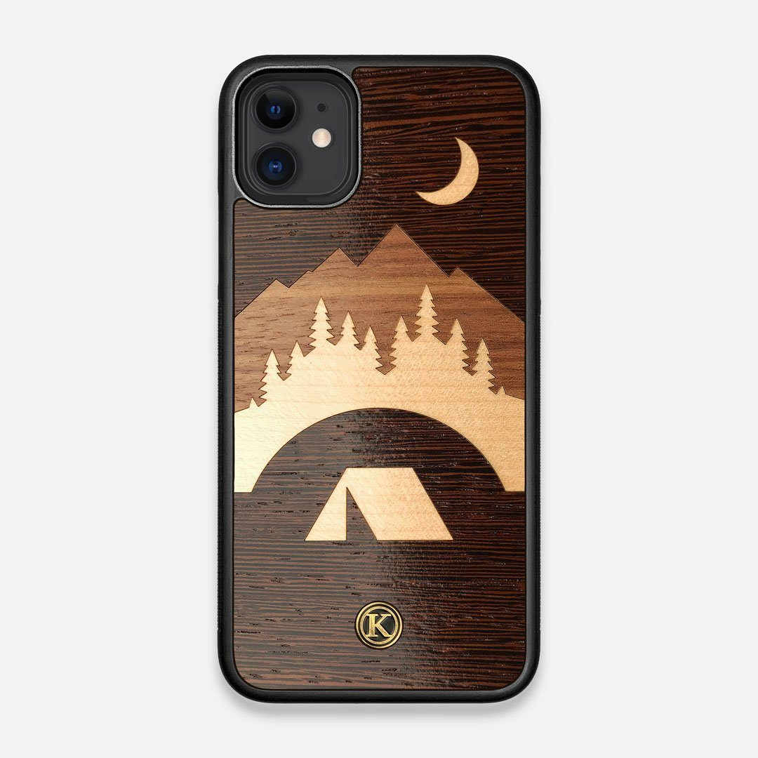 Front view of the Wilderness Wenge Wood iPhone 11 Case by Keyway Designs