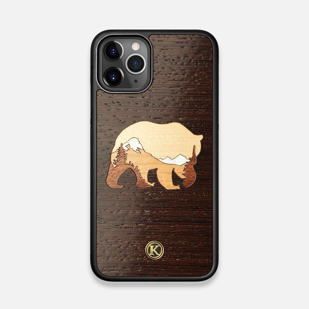 TPU/PC Sides of the Bear Mountain Wood iPhone 11 Pro Case by Keyway Designs