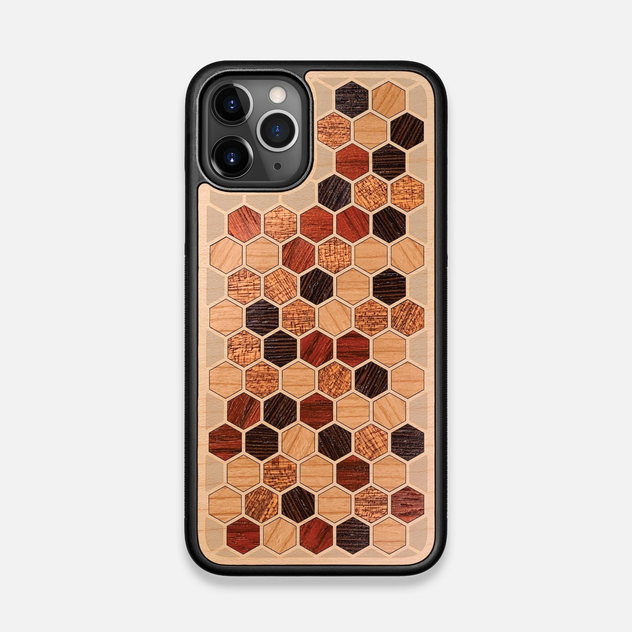 Front view of the Cellular Maple Wood iPhone 11 Pro Case by Keyway Designs