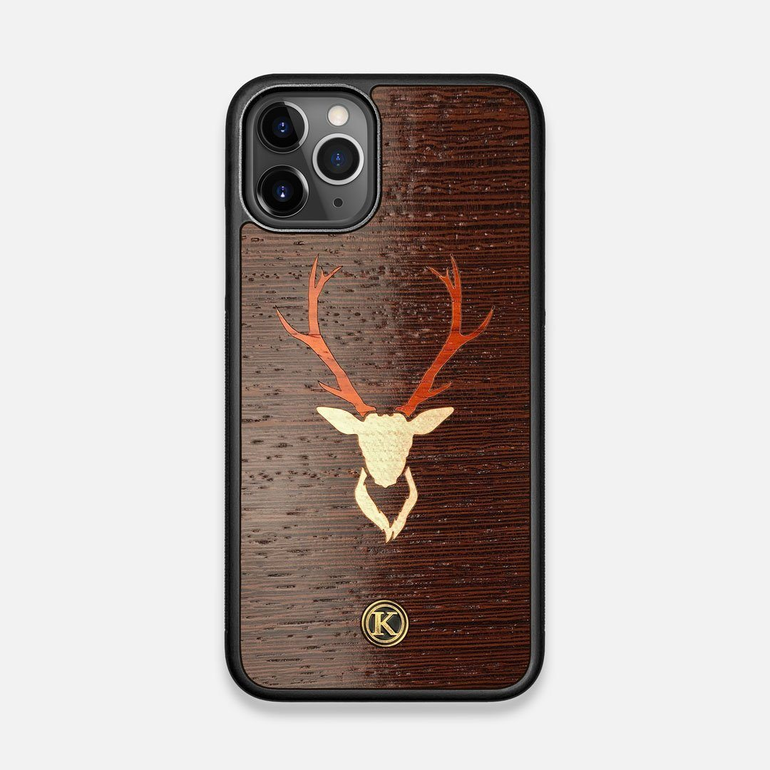 Front view of the Stag Wenge Wood iPhone 11 Pro Case by Keyway Designs