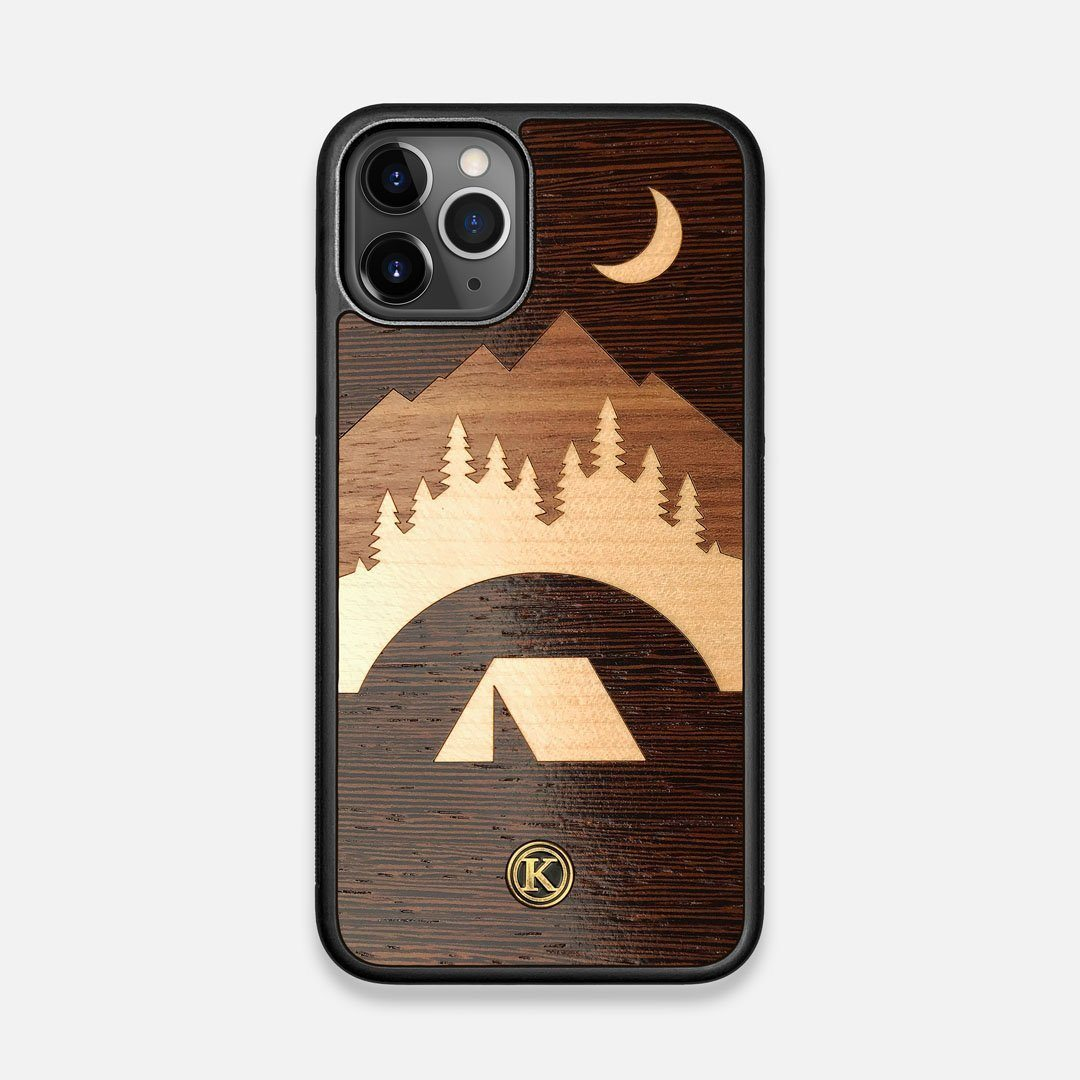 Front view of the Wilderness Wenge Wood iPhone 11 Pro Case by Keyway Designs