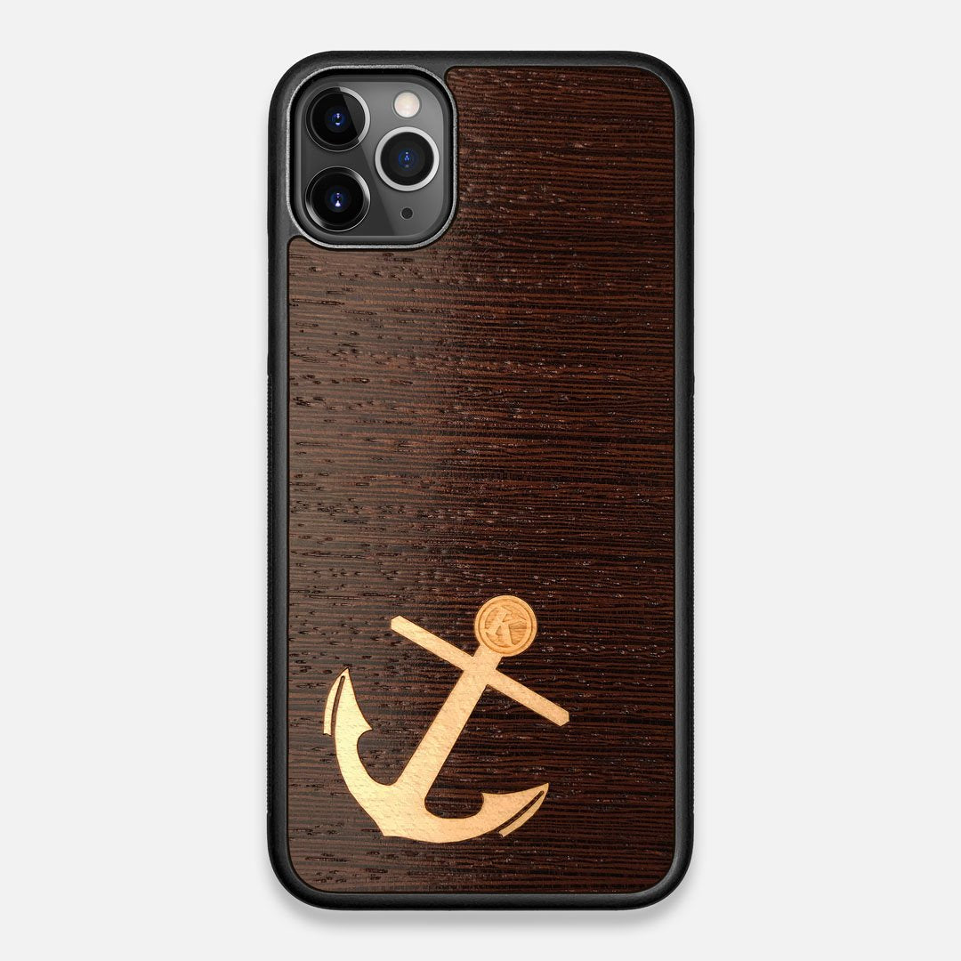 Front view of the Wilderness Wenge Wood iPhone 11 Pro Max Case by Keyway Designs