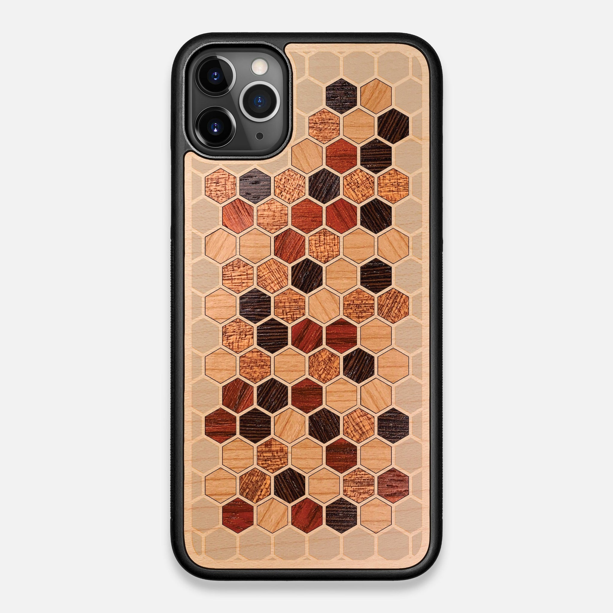Front view of the Cellular Maple Wood iPhone 11 Pro Max Case by Keyway Designs