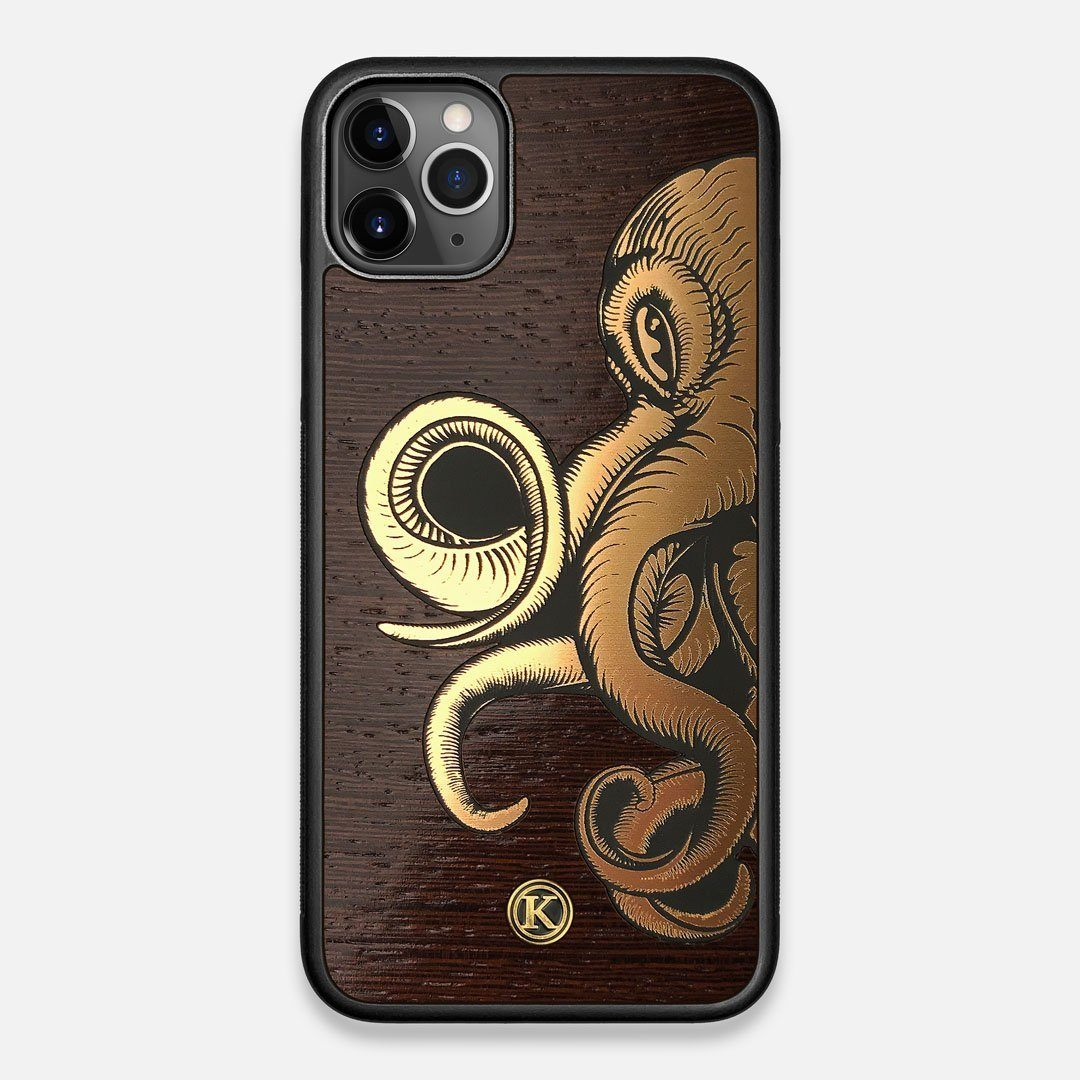 TPU/PC Sides of the classic Camera, silver metallic and wood iPhone 11 Pro Max Case by Keyway Designs
