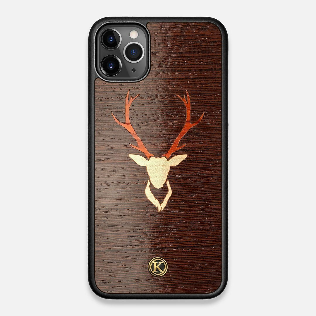 Front view of the Stag Wenge Wood iPhone 11 Pro Max Case by Keyway Designs