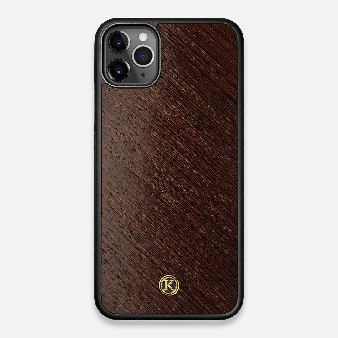 Front view of the Wenge Pure Minimalist Wood iPhone 11 Pro Max Case by Keyway Designs