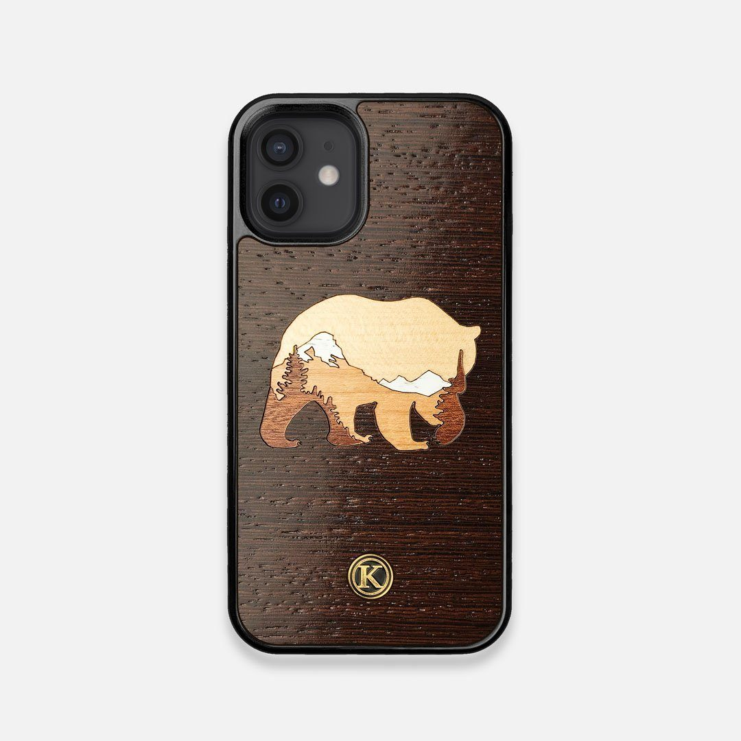 TPU/PC Sides of the Bear Mountain Wood iPhone 12 Mini Case by Keyway Designs
