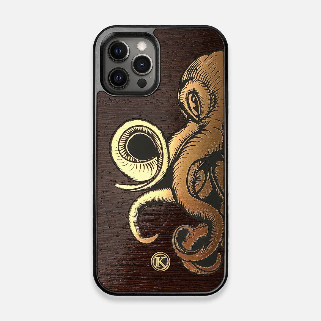 TPU/PC Sides of the classic Camera, silver metallic and wood iPhone 12/12 Pro Case by Keyway Designs