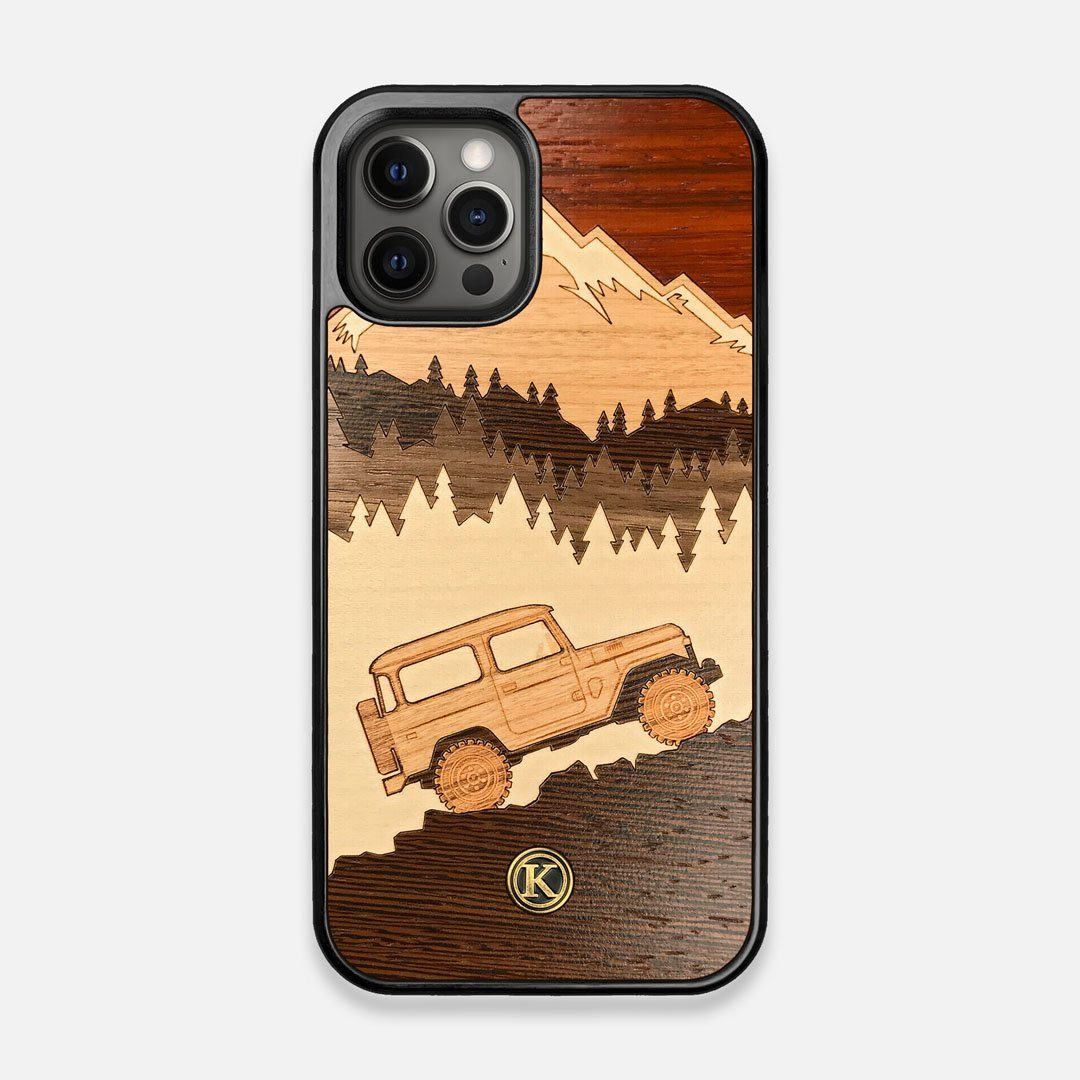 TPU/PC Sides of the Off-Road Wood iPhone 12/12 Pro Case by Keyway Designs